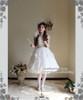 Model Show (White Ver.) (choker: AD00572, dress set: DR00178, wristlet: AD00601, fan: P00580, petticoat: UN00022, leggings: P00187)
