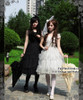 Model Show (black dress set: DR00178L, white dress set: DR00178)