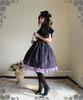Model Show (Violet + Black Stripe Ver.) (hat: P00533, cape: CT00251, blouse: TP00060, necklace on hand: AD00282, birdcage petticoat: UN00019, leggings: P00182)