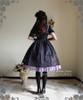 Model Show (Violet + Black Stripe Ver.) (hat: P00533, blouse: TP00060, birdcage petticoat: UN00019, leggings: P00182)