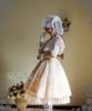 Model Show (Ivory + White Stripe Ver.) (hat: P00546, cape: CT00251, cutsew: TP00137, gloves: P00592, birdcage petticoat: UN00019)