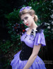 Gothic Midi Black Dress A Line Summer Dress One Piece Shorts Hairbow Set