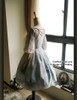 Back View (Fairy Mint + Grey Ver.) (birdcage petticoat: UN00019)