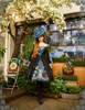 Model Show (Misty Blue + Black Ver.) (hat: P00609, birdcage petticoat: UN00019, leggings: P00182)