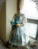 Front View (Fairy Mint + Grey Ver.) (birdcage petticoat: UN00019)