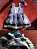 Last Chance: Bunny Alice Lolita Parent-Child Clothes 4pcs Dress & Hairbow Set*Kids Version 2colors Instant Shipping