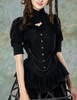 Model View (black version) corset & brooch Y00032N hat P00624 shrug CT00229N birdcage petticoat UN00028Model View (black version) corset & brooch Y00032N hat P00624 shrug CT00229N birdcage petticoat UN00028