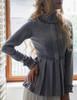 Steampunk Long Sleeve Shirt Pleats Shirt Blouse White Black Grey