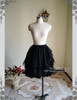 Front View when tie up the skirt (Black Ver.)