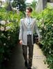 Model View jacket CT00258, blouse TP00148, hat P00619, jabot P00516N