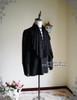 Steampunk Loose Shirt Men Shirt Cravat Set Retro Fashion White Black Blue