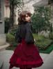 Model Show (Burgundy Version) blouse TP00150