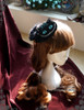 Hanmade Steampunk Alice Tea Party Cheshire Cat Headdress