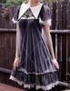 Gothic Short Black Dress Short Sleeve Dress Summer Dress Romper Set