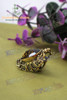 Gothic Tiger-Skin Print Jewel Ring