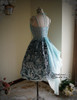 Back View when Sash be worn as skirt piece (Pale Blue + Mint Blue Chiffon Ver.) (birdcage petticoat: UN00027)