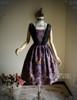 Front View w/o Sash (Pale Purple + Black Chiffon Ver.) (birdcage petticoat: UN00027)