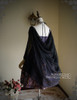 Back View when Sash be worn as cape (Pale Purple + Black Chiffon Ver.) (birdcage petticoat: UN00027)