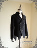 Steampunk Tuxedo Jacket Mens Dress Coat Coattail Black Coat Evening Jacket