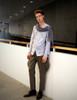 Model Show (light linen/cotton blend in light grey + grey crepe chiffon Ver.) Pants: SP00172
