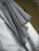 Detailed View  (light linen/cotton blend in light grey + grey crepe chiffon Ver.)