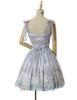 Last Chance Fairy Lolita Floral Midi Dress Cape Dress Summer Ball Dress Bustle Skirt Set