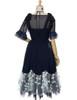 Back View (Dark Blue + Black Ver.) (tulle petticoat underneath: UN00026)