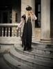 Model Show (Grey Version) dress DR00208 beret P00632