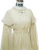 Vintage Top Transparent Long Sleeve Shirt Elastic Waist* Ivory Grey