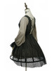 Side View (Antique Grey + Black Jagged Knitting Fabric Ver.) (birdcage petticoat: UN00019)