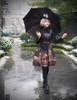 Model Show (Black Version) dress DR00206 blouse TP00139 hat P00549N