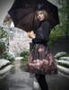 Last Chance: Steampunk Printed Dress Midi Dress Jumper Skirt Dress* Black Brown