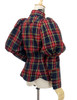 Back View (Dark Blue & Red Plaid Version)