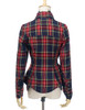 Back View of Jacket (Dark Blue & Red Plaid Version)