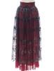 Back View of Skirt (Burgundy + Black Tulle Version)