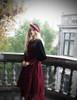 Model Show (Burgundy + Black Tulle Version) hat P00632 blouse TP00157 coat CT00279