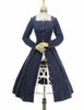 Front View w/o Cape Pieces (Dark Blue Ver.) (birdcage petticoat: UN00028)