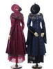 Co-ordinate Show (Burgundy & Black Versions) (coat: CT00279, skirt & shawl set: SP00184, tulle petticoat: CT00040S)