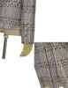 ivory+black+light blue stripe knit fabric