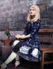 Gothic Retro Shirt Dress Vintage Preppy Dandy for Women Dress