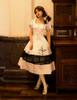 Model Show (White + Black Bows & Prints Ver.) (brooch: P00627, petticoat: UN00019)