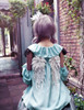 Last Chance: Off-the-Shoulder Top Fairy Loose Lolita Blouse,Embroidery Wings Fairy Cute Little Angel Shirt