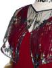 Detail View (Burgundy + Black Tulle Version)