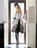 Model Show (Black + Silver Black Mixed Lace Ver.) (bonnet: P00577N, dress: DR00170N, petticoat: UN00026, shoes: D00012)