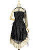 Back View when cape buttoned on one side (Black + Antique Golden Ver.) (petticoat: UN00026)