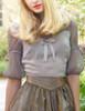 Last Chance: Vintage Retro Lolita Top Black Grey Summer Casual Ladies Blouse