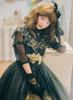 Model Show (Black Version) Dress DR00220, Corset Y00042, Headdress P00607