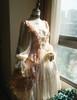 Front View under natural sunlight (Vintage Pink + Light Ivory Ver.) (petticoat: UN00026)