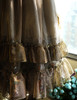 Detail View under natural sunlight (Light Grey + Golden Silver Illusion Tulle Version)