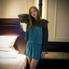 Vintage Fashion Womens Exclusive Silk Pajamas Casual Top Trousers Shorts